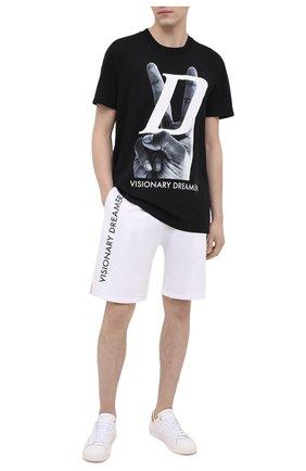 Мужские хлопковые шорты DIEGO VENTURINO белого цвета, арт. SS21-DV SRT VDL | Фото 2