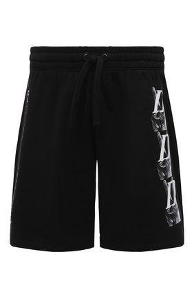 Мужские хлопковые шорты DIEGO VENTURINO черного цвета, арт. SS21-DV SRT VDL | Фото 1