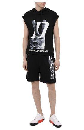Мужские хлопковые шорты DIEGO VENTURINO черного цвета, арт. SS21-DV SRT VDL | Фото 2
