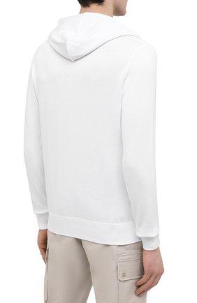Мужской хлопковый кардиган KITON белого цвета, арт. UK1050 | Фото 4