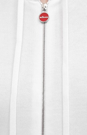 Мужской хлопковый кардиган KITON белого цвета, арт. UK1050 | Фото 5