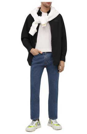 Мужские комбинированные кроссовки rockrunner plus VALENTINO разноцветного цвета, арт. VY2S0C88/MHB | Фото 2 (Стили: Гранж; Материал внутренний: Текстиль; Материал внешний: Текстиль; Подошва: Массивная)