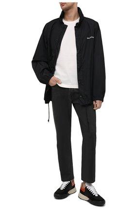 Мужские комбинированные кроссовки ALEXANDER MCQUEEN черного цвета, арт. 653222/W4JY1   Фото 2