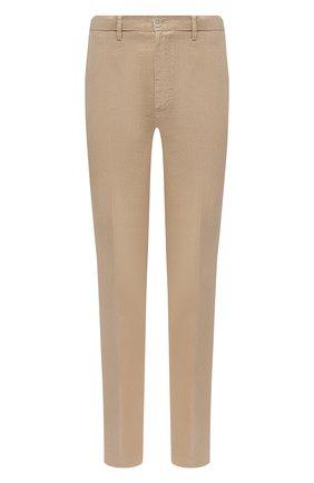 Мужские льняные брюки 120% LINO бежевого цвета, арт. T0M2411/0253/000 | Фото 1