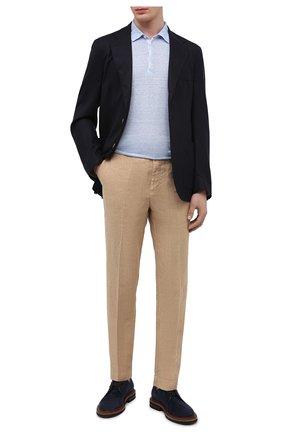 Мужские льняные брюки 120% LINO бежевого цвета, арт. T0M2411/0253/000 | Фото 2