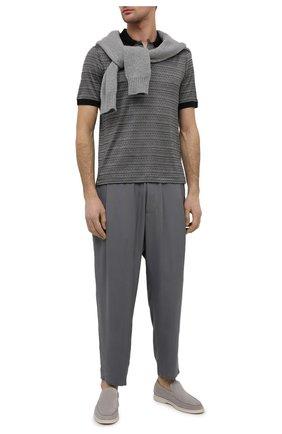 Мужские брюки GIORGIO ARMANI светло-серого цвета, арт. 1SGPP0HG/T00AB | Фото 2