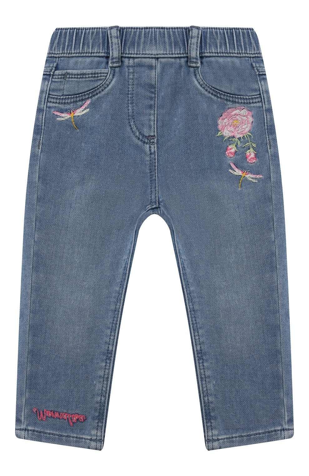 Детские джинсы MONNALISA синего цвета, арт. 397403R5 | Фото 1