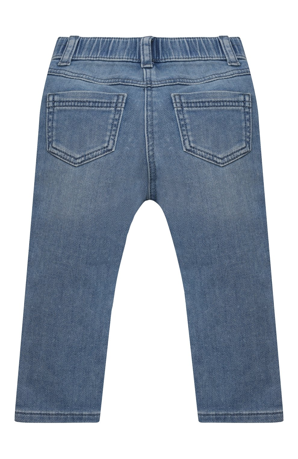 Детские джинсы MONNALISA синего цвета, арт. 397403R5 | Фото 2