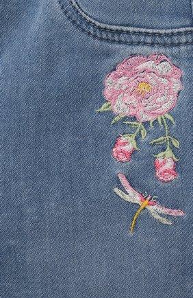 Детские джинсы MONNALISA синего цвета, арт. 397403R5 | Фото 3