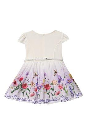Детское платье MONNALISA белого цвета, арт. 117907 | Фото 2