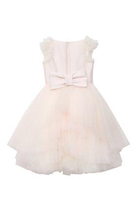 Детское платье MONNALISA розового цвета, арт. 777902 | Фото 2