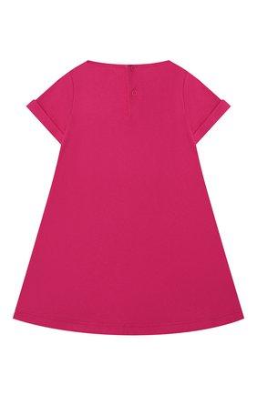 Женский хлопковое платье IL GUFO фуксия цвета, арт. P21VM612M0014/12M-18M | Фото 2