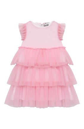 Женский хлопковое платье IL GUFO светло-розового цвета, арт. P21VM585H0018/12M-18M | Фото 1