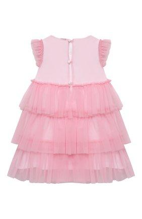 Женский хлопковое платье IL GUFO светло-розового цвета, арт. P21VM585H0018/12M-18M | Фото 2