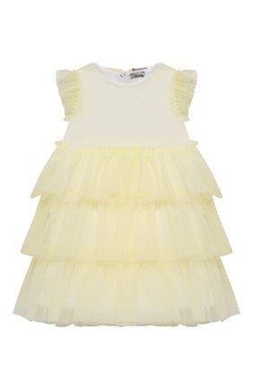 Женский хлопковое платье IL GUFO желтого цвета, арт. P21VM585H0018/12M-18M | Фото 1