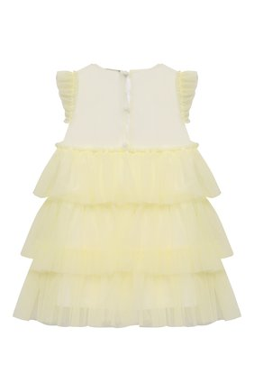 Женский хлопковое платье IL GUFO желтого цвета, арт. P21VM585H0018/12M-18M | Фото 2