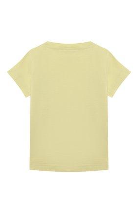 Детский хлопковая футболка IL GUFO желтого цвета, арт. P21TS271M0014/3M-9M | Фото 2