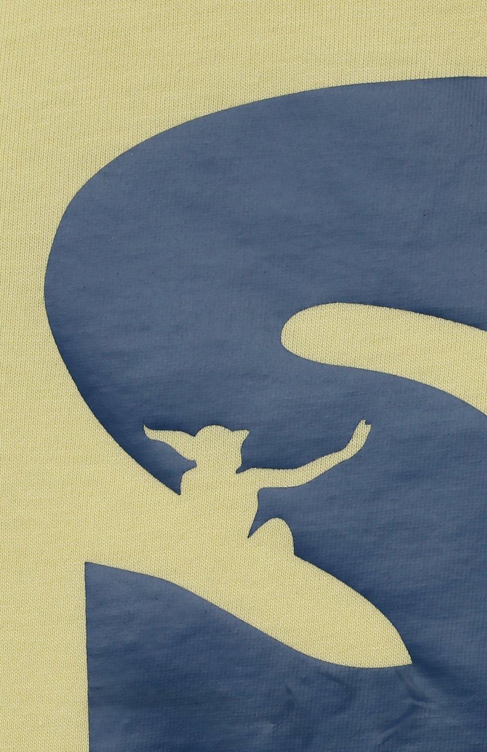Детский хлопковая футболка IL GUFO желтого цвета, арт. P21TS271M0014/24M | Фото 3
