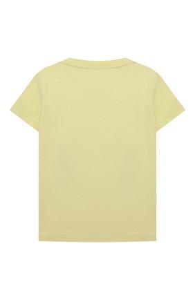 Детский хлопковая футболка IL GUFO желтого цвета, арт. P21TS271M0014/12M-18M | Фото 2