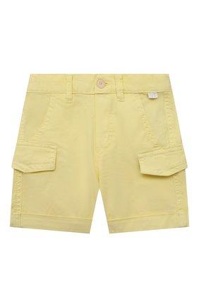 Детские хлопковые шорты IL GUFO желтого цвета, арт. P21PB143C6002/3M-9M | Фото 1