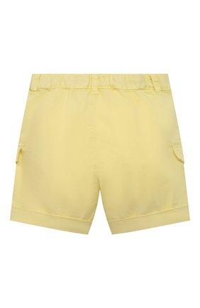 Детские хлопковые шорты IL GUFO желтого цвета, арт. P21PB143C6002/3M-9M | Фото 2