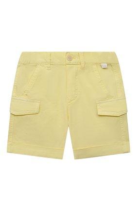 Детские хлопковые шорты IL GUFO желтого цвета, арт. P21PB143C6002/24M | Фото 1