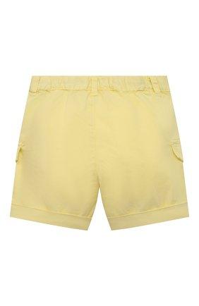 Детские хлопковые шорты IL GUFO желтого цвета, арт. P21PB143C6002/24M | Фото 2