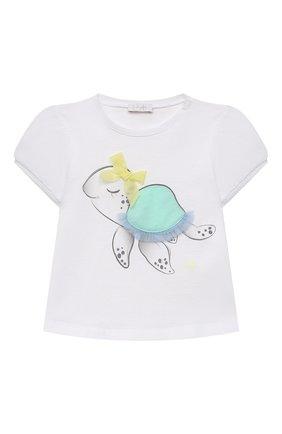 Детский комплект из футболки и шорт IL GUFO бирюзового цвета, арт. P21DP358M0014/3M-9M   Фото 2