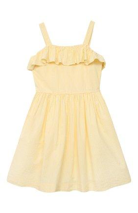 Детское хлопковое платье POLO RALPH LAUREN желтого цвета, арт. 313832949 | Фото 1