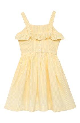 Детское хлопковое платье POLO RALPH LAUREN желтого цвета, арт. 313832949 | Фото 2