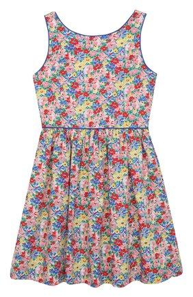 Детское хлопковое платье POLO RALPH LAUREN разноцветного цвета, арт. 313835225 | Фото 1
