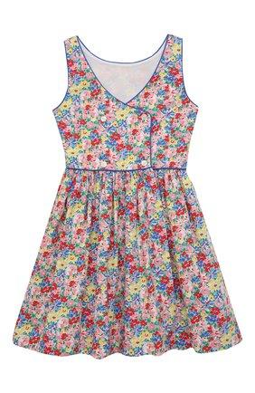Детское хлопковое платье POLO RALPH LAUREN разноцветного цвета, арт. 313835225 | Фото 2