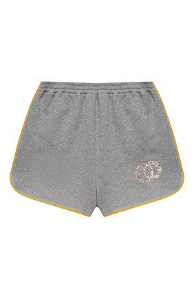 Детские хлопковые шорты GUCCI серого цвета, арт. 647283/XJC9W | Фото 1