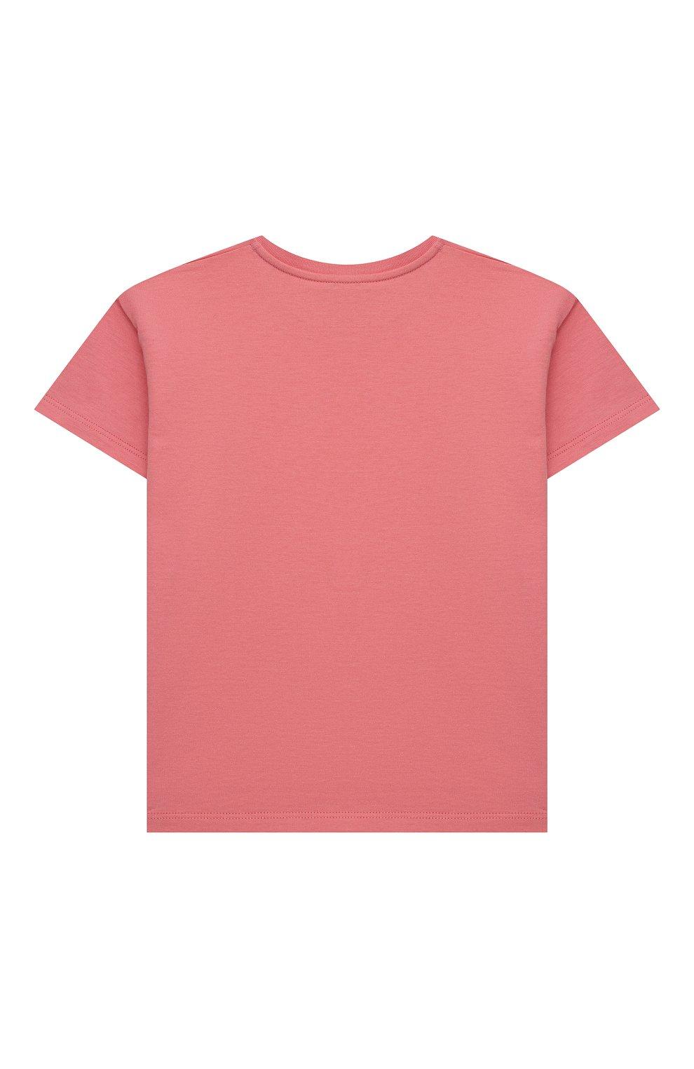 Детский хлопковая футболка GUCCI розового цвета, арт. 576871/XJC70   Фото 2