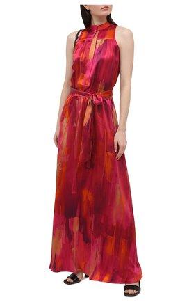 Женское шелковое платье KITON розового цвета, арт. D51326K09T47 | Фото 2