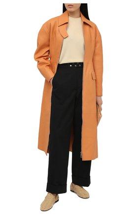 Женские кожаные лоферы BOTTEGA VENETA бежевого цвета, арт. 651029/V09F0 | Фото 2