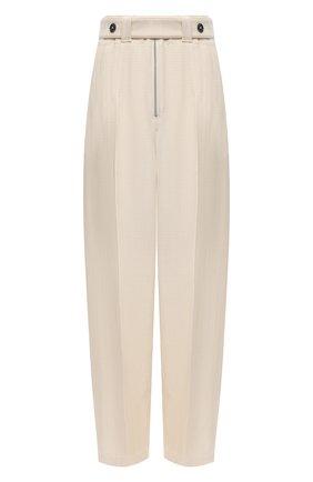 Женские брюки из вискозы и шелка JIL SANDER белого цвета, арт. JSPS311205-WS390300 | Фото 1