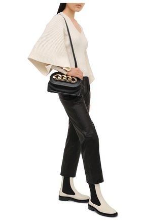 Женские кожаные челси JIL SANDER бежевого цвета, арт. JS36050B-13052   Фото 2