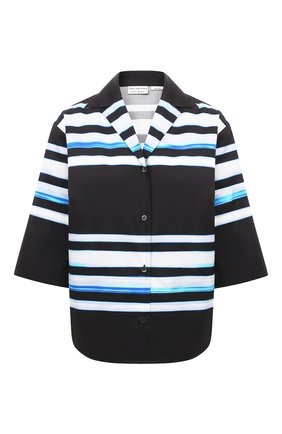 Женская хлопковая рубашка DRIES VAN NOTEN темно-синего цвета, арт. 211-30704-2094 | Фото 1