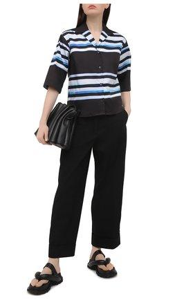 Женская хлопковая рубашка DRIES VAN NOTEN темно-синего цвета, арт. 211-30704-2094 | Фото 2