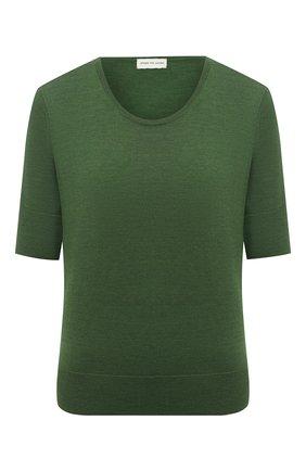 Женский шерстяной пуловер DRIES VAN NOTEN зеленого цвета, арт. 211-11260-2701 | Фото 1