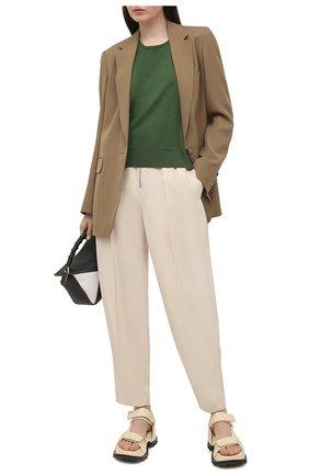 Женский шерстяной пуловер DRIES VAN NOTEN зеленого цвета, арт. 211-11260-2701 | Фото 2