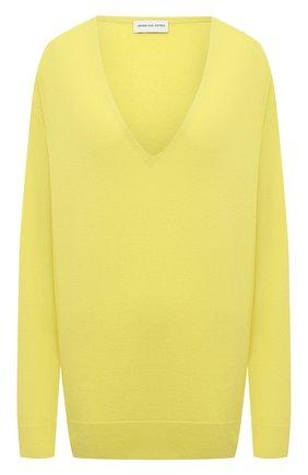 Женский шерстяной пуловер DRIES VAN NOTEN желтого цвета, арт. 211-11258-2704   Фото 1