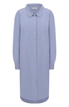 Женское хлопковое платье DRIES VAN NOTEN голубого цвета, арт. 211-11057-2160 | Фото 1
