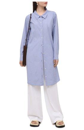 Женское хлопковое платье DRIES VAN NOTEN голубого цвета, арт. 211-11057-2160 | Фото 2