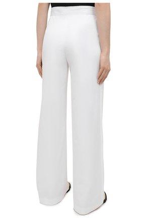 Женские хлопковые брюки DRIES VAN NOTEN белого цвета, арт. 211-10918-2026   Фото 4