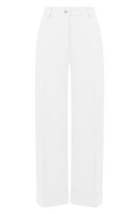 Женские брюки из хлопка и вискозы DRIES VAN NOTEN белого цвета, арт. 211-10903-2109 | Фото 1