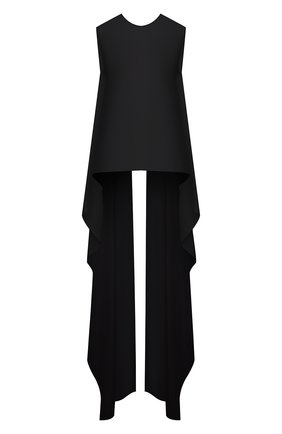 Женский хлопковый топ DRIES VAN NOTEN черного цвета, арт. 211-10745-2017 | Фото 1