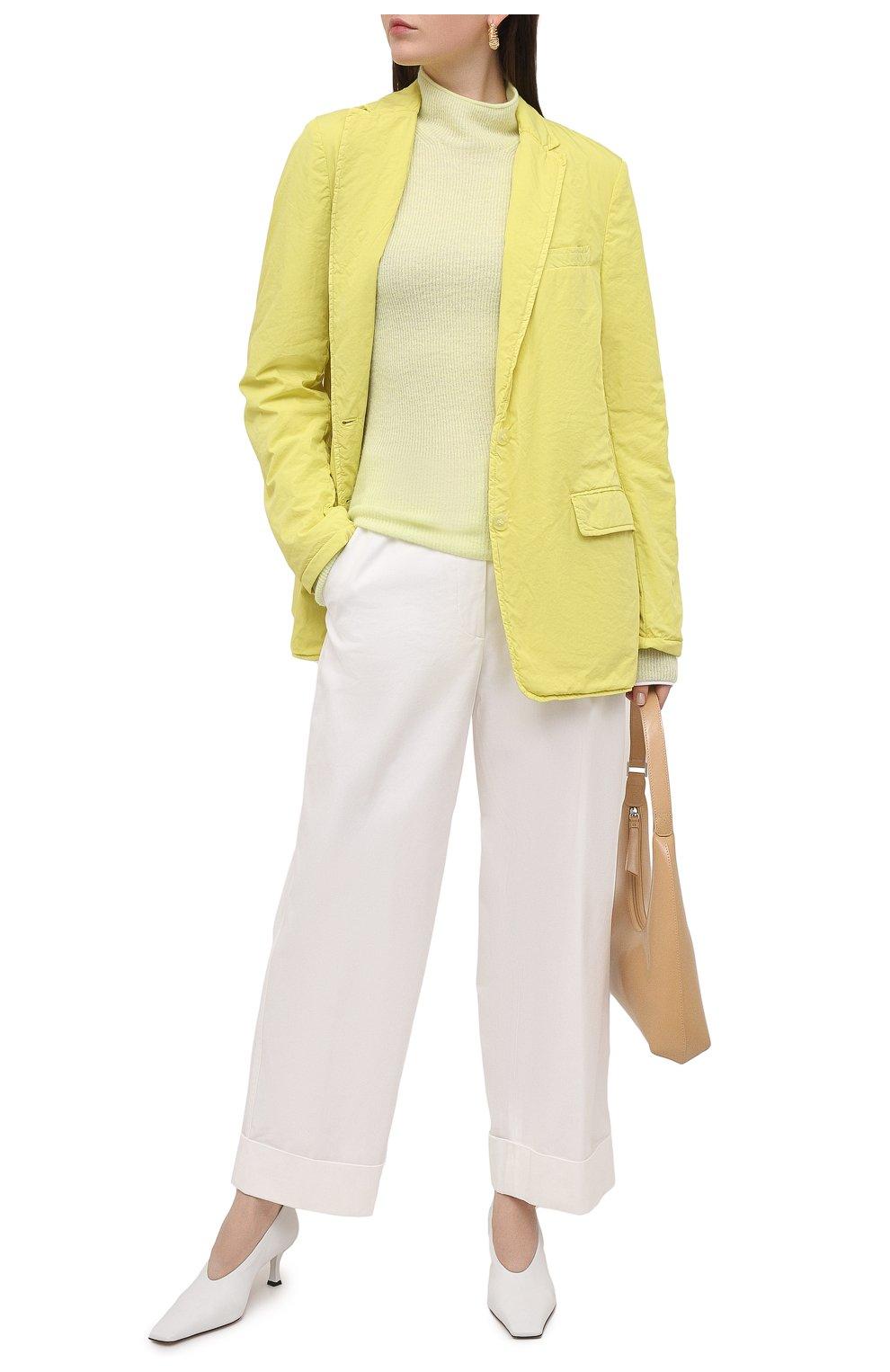 Женский хлопковый жакет DRIES VAN NOTEN желтого цвета, арт. 211-10414-2279 | Фото 2