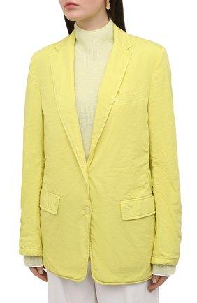 Женский хлопковый жакет DRIES VAN NOTEN желтого цвета, арт. 211-10414-2279 | Фото 3